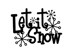 White Metal Christmas Decorations by Let It Snow Metal Sign With Snowflakes Black 13 5x10