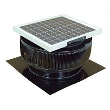 Roof Fan by Master Flow 750 Cfm Low Profile Solar Powered Roof Mount Exhaust