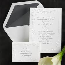 embossed wedding invitations calla embossed wedding invitation tags calla wedding