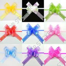 60 ab coating small pull bows butterfly ribbon wedding