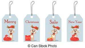 cute vector illustration gift bag with snowflakes and tag