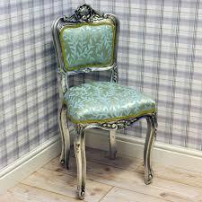 ladies bedroom chair silver frame duck egg blue leaf ladies bedroom chair