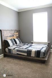 How To Build A Platform Bed King Size by Easy Diy Platform Bed Shanty 2 Chic
