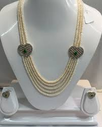 trendy pearl necklace images Pearl set stylish brooch pearl set manufacturer from hyderabad png