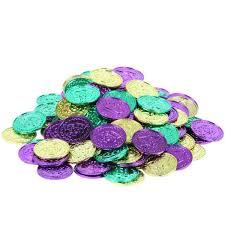 mardi gras deblume mardi gras plastic coins asst bag of 100 office