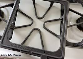 enjoy life anyway the easy way to clean stove burner grates or