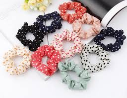 hair bands for women 2018 new ful dot cloth bands women hair rubber bands black women
