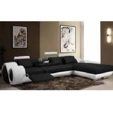 canap d angle cuir noir et blanc canapé d angle en cuir design noir et blanc achat vente canapé