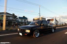 nissan hardbody drift one of these is not like the others usdm style in japan