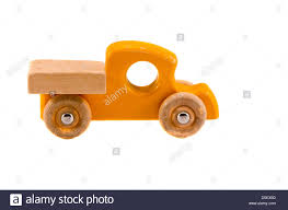 wooden truck toy old wooden truck toy isolated on white background stock photo