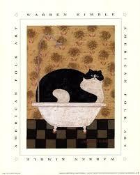 Cat In Bathtub Cat In Tin Tub Fine Art Print Bathtub Art Prints And