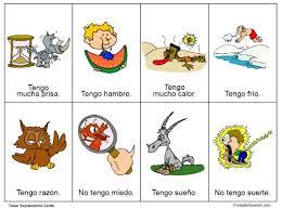 tener expressions cards u2013 printable spanish
