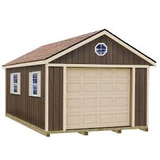 best barns sierra 12 ft x 24 ft wood garage kit with sturdy