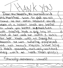 Thank You Letter Veterans civil rights movement veterans responses from students