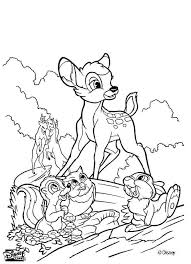 bambi 51 coloring pages hellokids