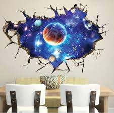 livegallery removable pvc 3d outer space planet moon earth stars