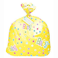 jumbo plastic polka dot baby shower gift bag blue berry baby store