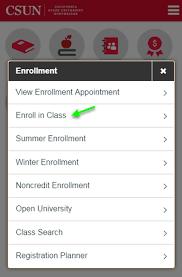 app class csun mobile app enroll in classes california state