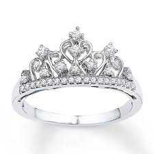 Crown Wedding Rings by Kay Crown Ring 1 5 Ct Tw Diamonds Sterling Silver