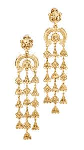 clip on chandelier earrings oscar de la renta charm clip on chandelier earrings shopbop
