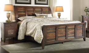 King Sleigh Bed Solid Mahogany Plantation King Sleigh Bed The Dump America S