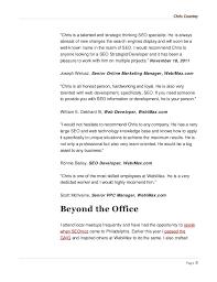Online Marketing Resume by Digital Marketing Resume Chris Countey