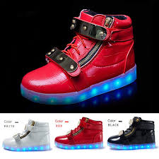 ladies light up shoes ladies casual high top led light up shoes womens sneakers zl688