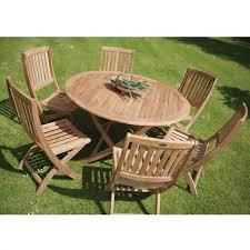 Teak Furniture Patio Home Decor Cozy Teak Patio Set With Garden Folding Table Sabina