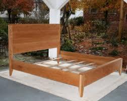 hardwood bed frame etsy