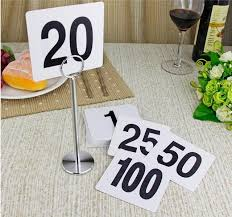 what size are table number cards new 1 to 25 table number plastic table number cards wedding