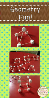 geometry fun 3d shapes marshmallow and math