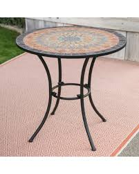 Outside Bistro Table Christmas Savings On Belham Living Solita Mosaic 30 In Round