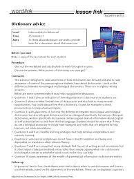 dictionary advice teacher u0027s notes dictionary multilingualism