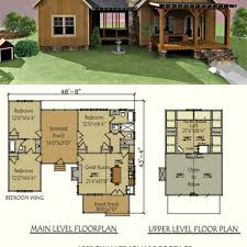 two bedroom log cabin floor plans