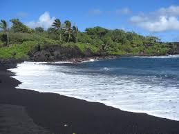 black sand beach hawaii black sand beach hawaii hawaii black sand beaches places to