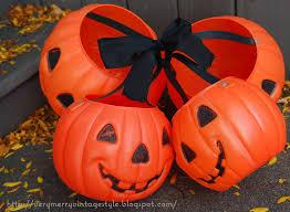 plastic pumpkins merry vintage syle vintage happy plastic pumpkins