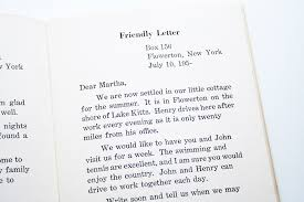 friendly letter writing format best template collection