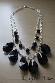 diy black necklace images Chunky black statement necklace diy my girlish whims jpg