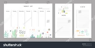 term planner template weekly planner template organizer schedule notes stock vector weekly planner template organizer and schedule with notes and to do list vector