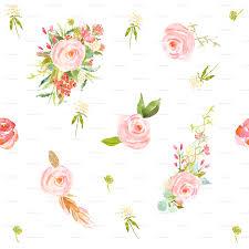 Floral Shabby Chic Wallpaper by Sweet Flowers Wallpaper Shopcabin Spoonflower