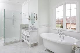Shower With Bathtub Green And Gray Bathroom With Tub Nook Transitional Bathroom