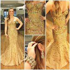 compare prices on mermaid prom gold dress online shopping buy low