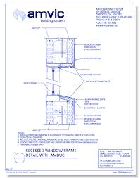 Window Sill Detail Cad Amvic Building System Structural And Exterior Enclosure Products