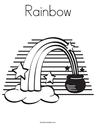 rainbow pot of gold coloring pages rainbow coloring page twisty noodle