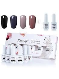 nail polish 01 4 deep colors uv led soak off elite99 gel nail
