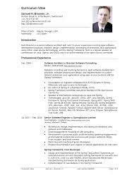 Sample For Resume by Cv Resume Example Berathen Com