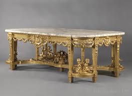 a unique monumental antique louis xvi style giltwood centre table