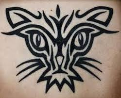 simple tribal cat designs