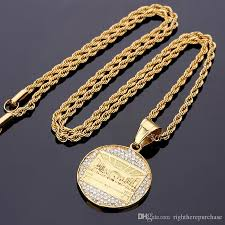 gold costume necklace images Wholesale fashion charms mens stainless steel gold plated necklace jpg