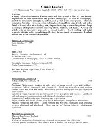 Photography Resume Sample by Freelance Photographer Resume Pdf Photographers Resume Best